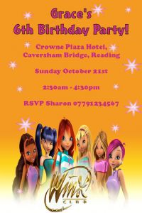 Personalised Winx Club Invitations (2)